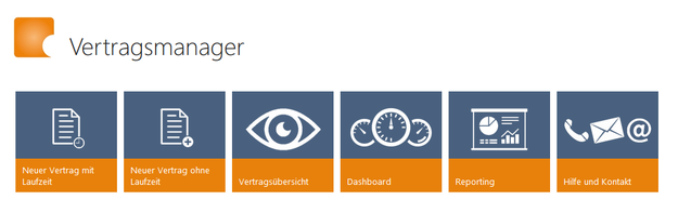 SharePoint Skybow Vertragsmanager Navigation