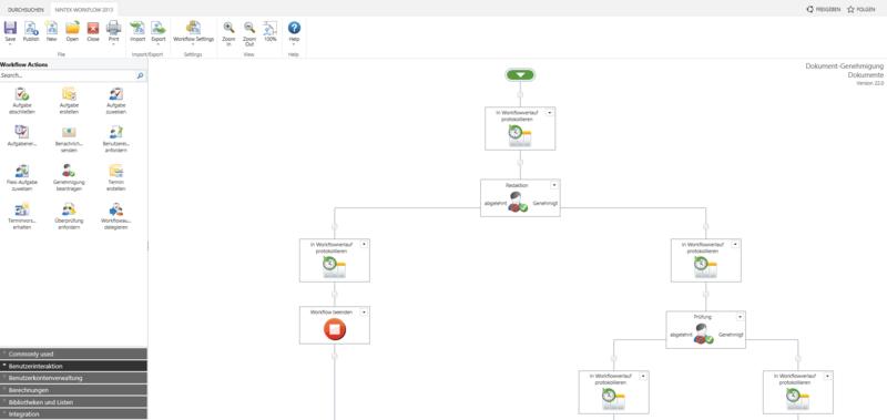 Nintex Workflow Designer