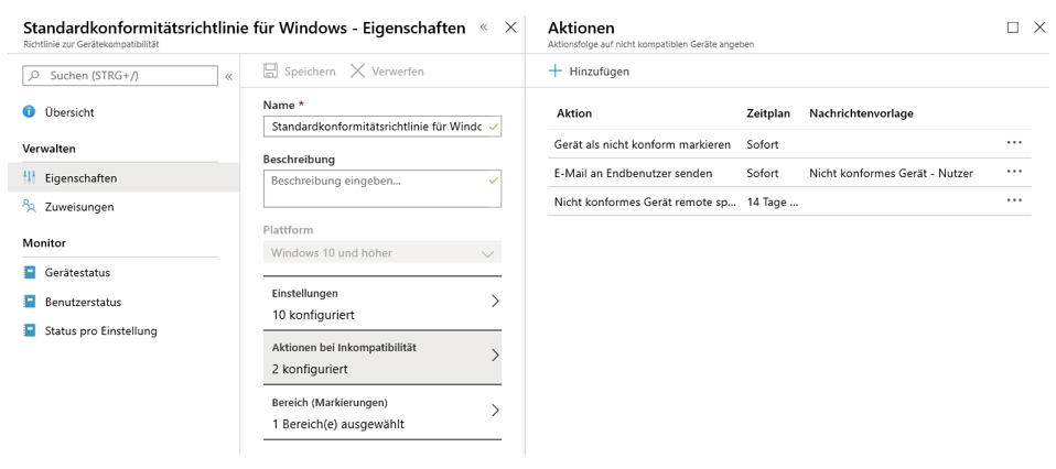 Microsoft Intune Office 365 Kompatibilitätsrichtlinien