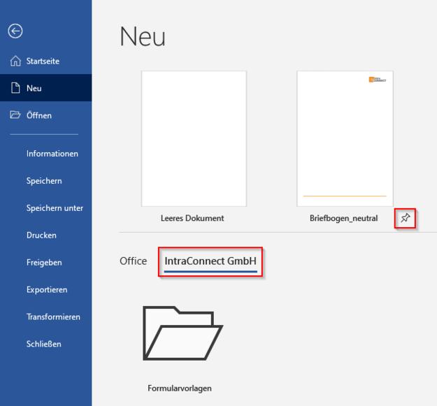 Microsoft Word Vorlagen SharePoint Online