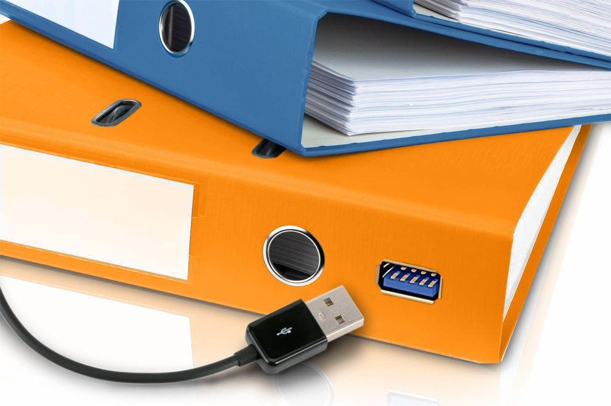 elektronischer Ordner mit USB