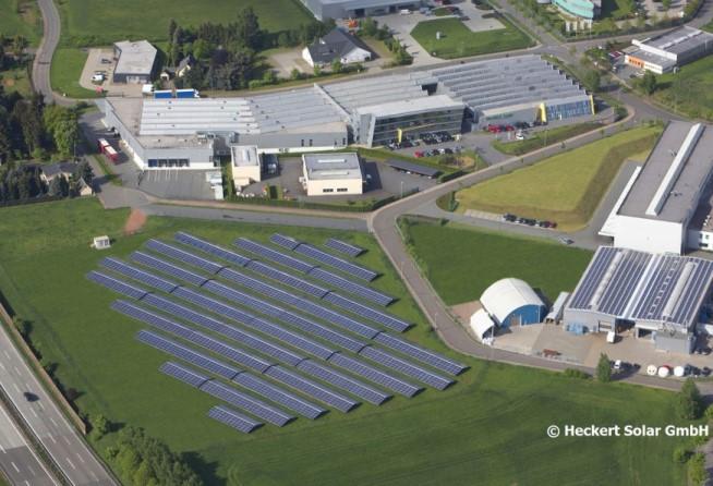 Luftaufnahme Heckert Solar